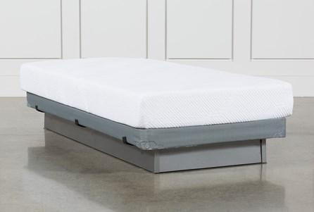 Essentials 8 Inch Foam Twin Mattress W/Low Profile Foundation