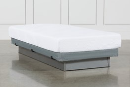 Essentials 8 Inch Foam Twin Extra Long Mattress W/Low Profile Foundation
