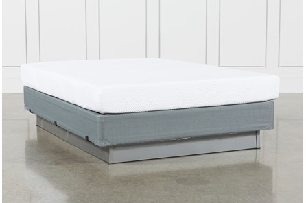 Essentials 8 Inch Foam Queen Mattress W/Foundation - Main