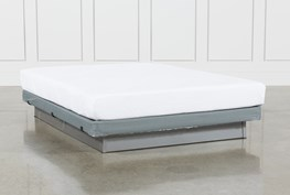 Essentials 8 Inch Foam Queen Mattress W/Low Profile Foundation