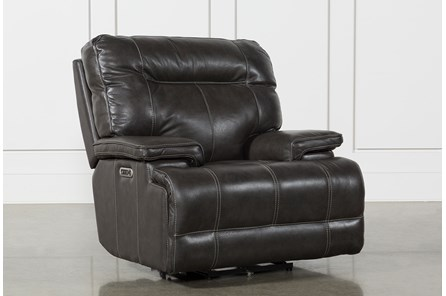 Marius Dark Grey Power Recliner Chair With Power Headrest And Usb