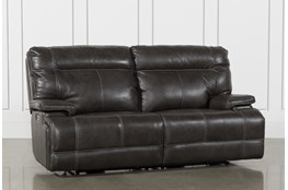 Marius Dark Grey Power Reclining Sofa With Power Headrest And Usb