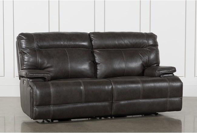 Marius Dark Grey Power Reclining Sofa With Power Headrest And Usb - 360
