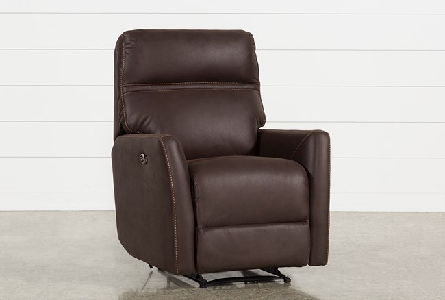 Siri Dark Chocolate Power Recliner - 360