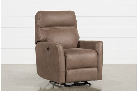 Siri Light Brown Power Recliner