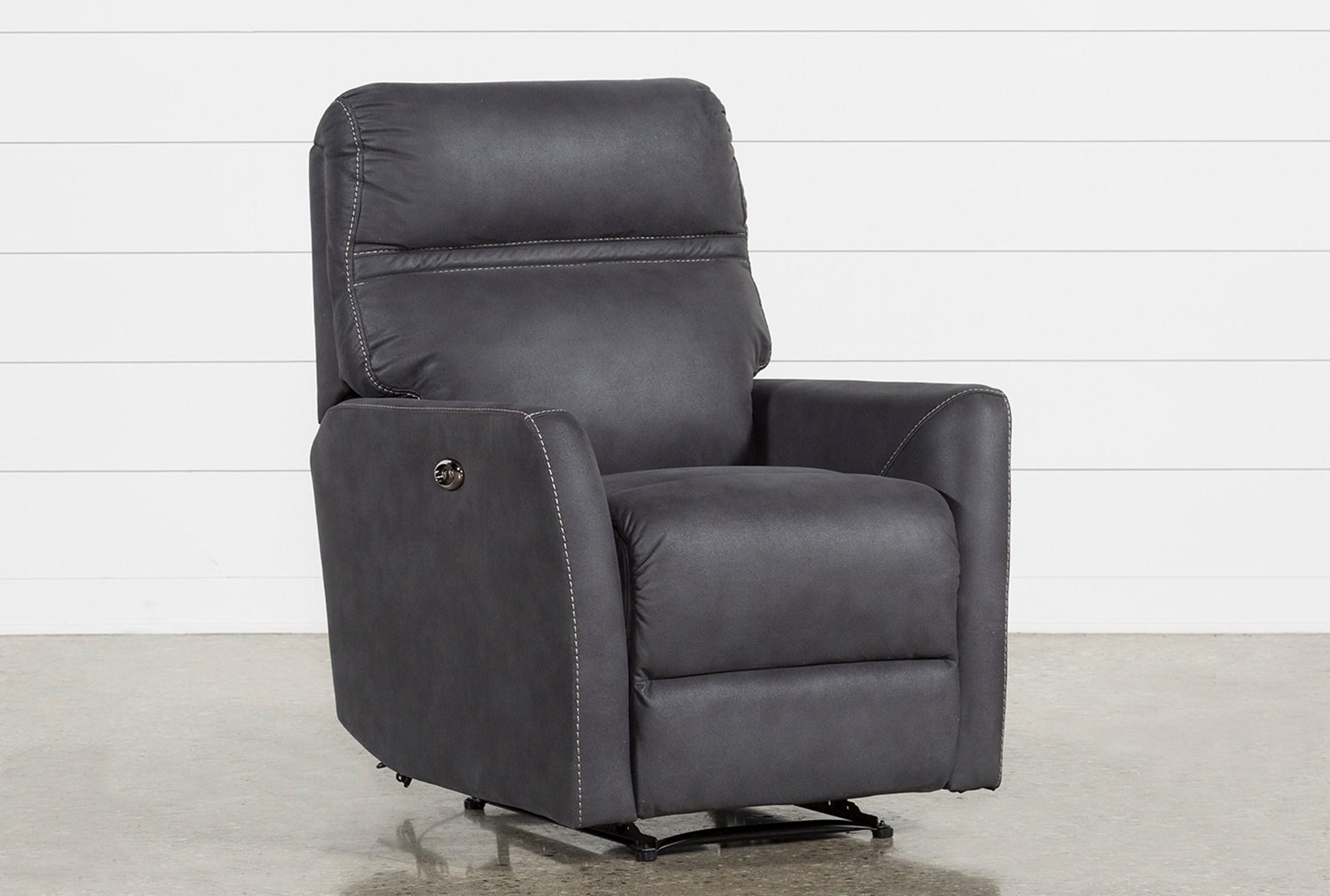 Outstanding Siri Dark Grey Power Recliner Machost Co Dining Chair Design Ideas Machostcouk