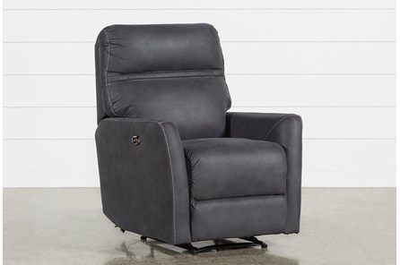 Siri Dark Grey Power Recliner - Main