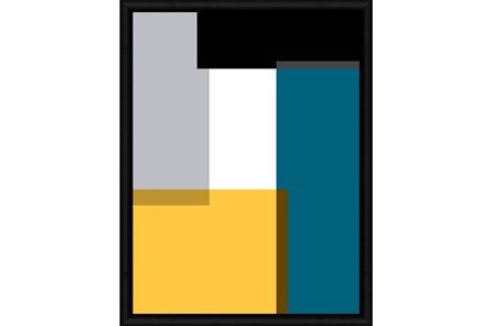 Picture-Canary And Turquoise Color Block II 32X42 - Main