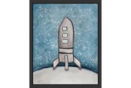 18X22 Kids + Teen Galaxy Rocket Ship I