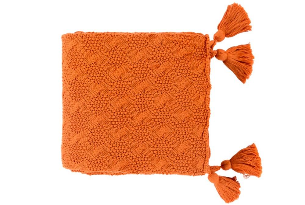 Accent Throw-Tassel Orange