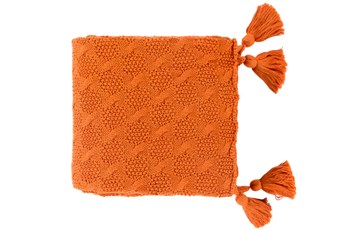 Accent Throw-Tassel Orange