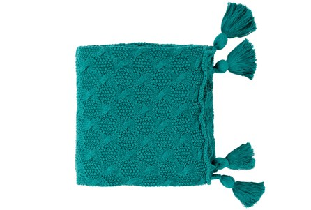Accent Throw-Tassel Teal