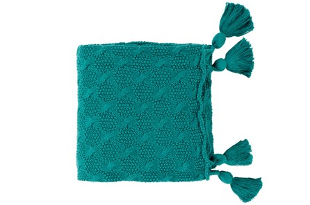 Accent Throw-Tassel Teal - Main