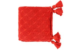 Accent Throw-Tassel Red
