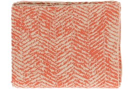 Accent Throw-Worn In Herringbone Orange
