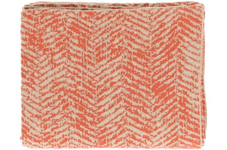 Accent Throw-Worn In Herringbone Orange - Main