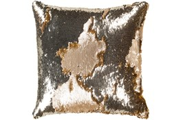 Accent Pillow-Luxe Mermaid Sequin Silver And Gold 18X18