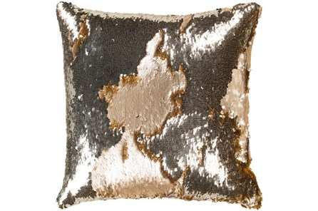 Accent Pillow-Luxe Mermaid Sequin Silver And Gold 18X18 - Main