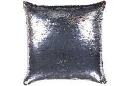Accent Pillow-Luxe Mermaid Sequin Silver And Copper 18X18