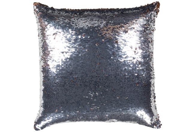 Accent Pillow-Luxe Mermaid Sequin Silver And Copper 18X18 - 360