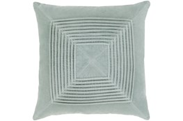 Accent Pillow-Cotton Velvet Box Pleat Silver Grey 20X20