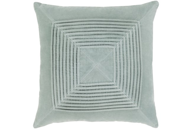 Accent Pillow-Cotton Velvet Box Pleat Silver Grey 20X20 - 360