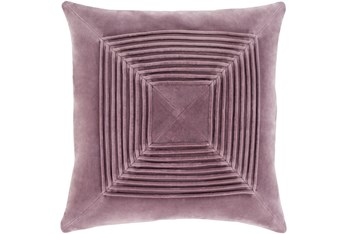 Accent Pillow-Cotton Velvet Box Pleat Lilac 18X18