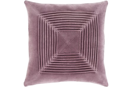 Accent Pillow-Cotton Velvet Box Pleat Lilac 18X18 - Main