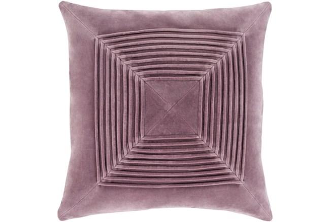 Accent Pillow-Cotton Velvet Box Pleat Lilac 18X18 - 360
