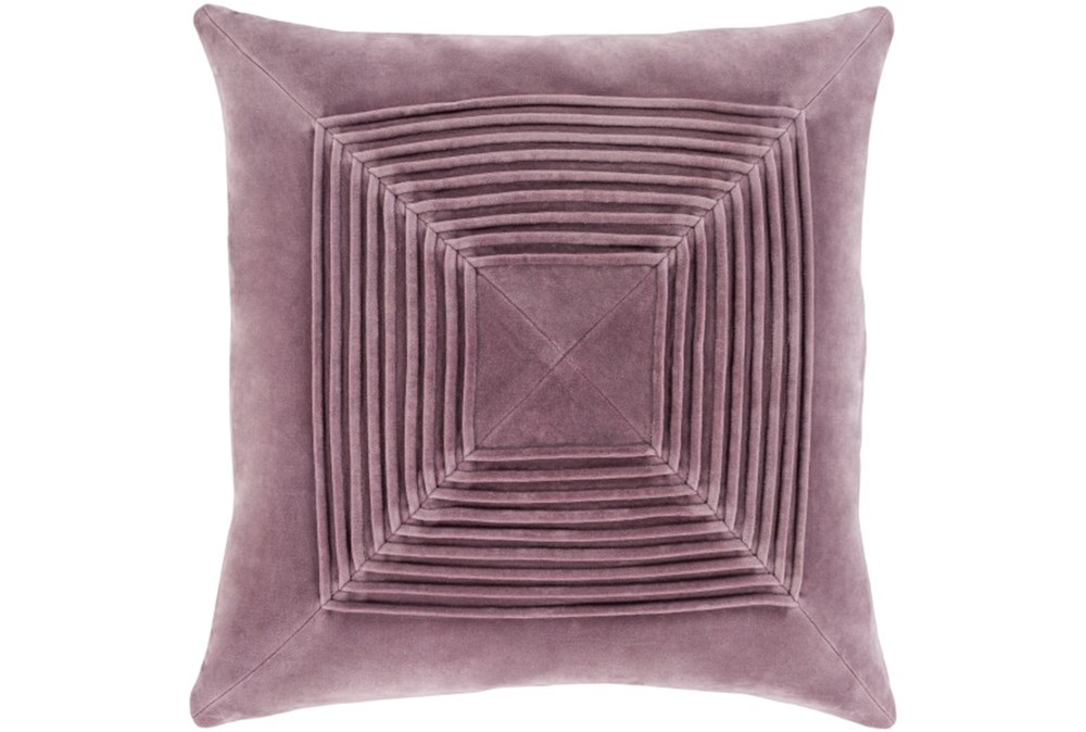 Accent Pillow-Cotton Velvet Box Pleat Lilac 20X20
