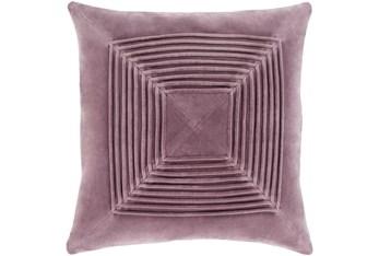 Accent Pillow-Cotton Velvet Box Pleat Lilac 20X20