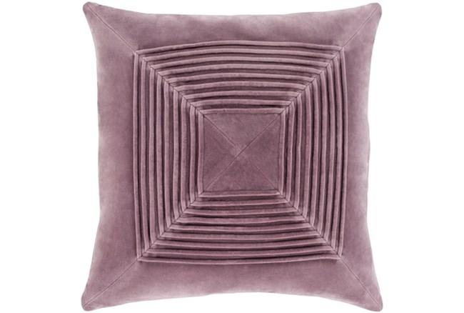 Accent Pillow-Cotton Velvet Box Pleat Lilac 20X20 - 360