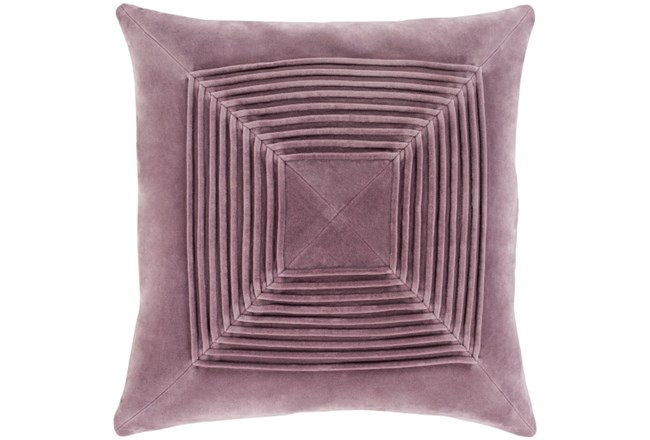 Accent Pillow-Cotton Velvet Box Pleat Lilac 20X20 - 360
