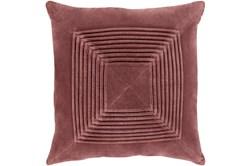 Accent Pillow-Cotton Velvet Box Pleat Sienna 18X18