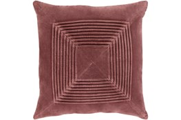 Accent Pillow-Cotton Velvet Box Pleat Sienna 18X18