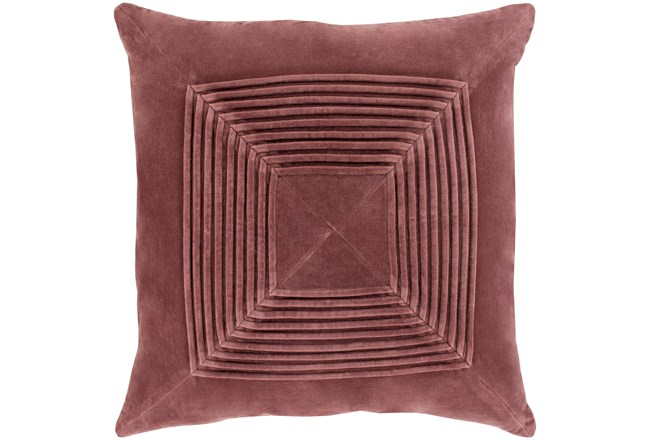 Accent Pillow-Cotton Velvet Box Pleat Sienna 18X18 - 360