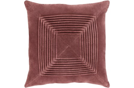 Accent Pillow-Cotton Velvet Box Pleat Sienna 20X20