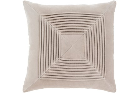 Accent Pillow-Cotton Velvet Box Pleat Stone 20X20