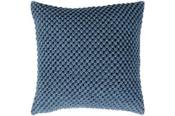 Accent Pillow-Crochet Cotton Denim Blue 20X20