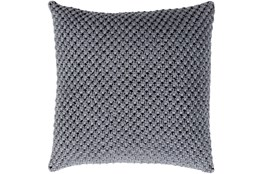 Accent Pillow-Crochet Cotton Grey 20X20