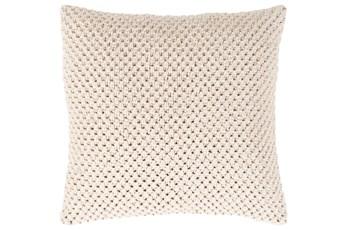 Accent Pillow-Crochet Cotton Cream 18X18
