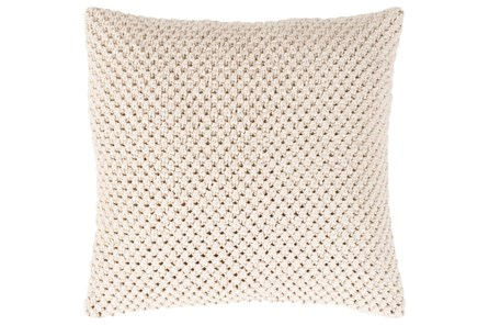Accent Pillow-Crochet Cotton Cream 18X18
