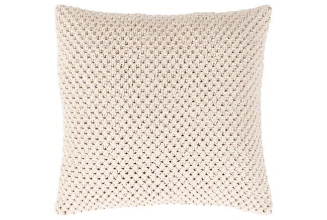 Accent Pillow-Crochet Cotton Cream 18X18 - 360