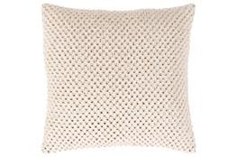 Accent Pillow-Crochet Cotton Cream 20X20