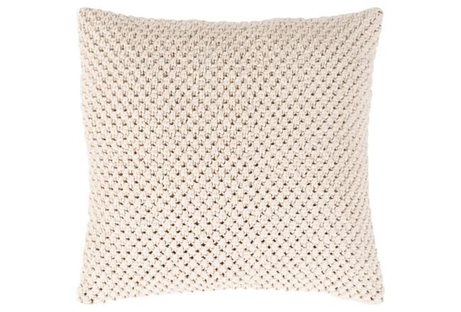 Accent Pillow-Crochet Cotton Cream 20X20 - 360