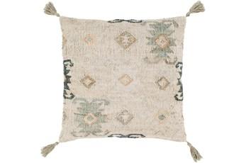 Accent Pillow-Jute Woven Khaki 20X20