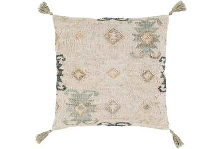 Accent Pillow-Jute Woven Khaki 20X20