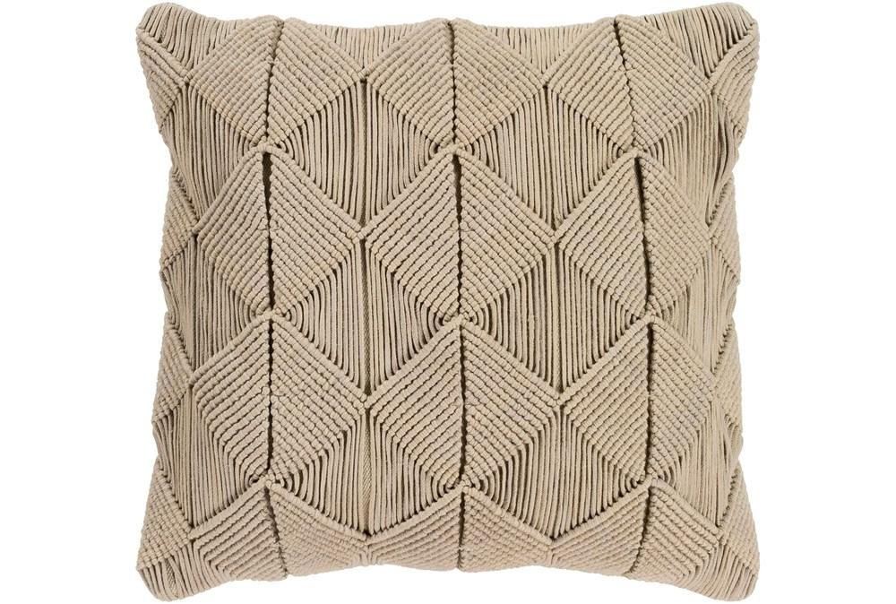 Accent Pillow-Macrame Diamonds Sage 18X18