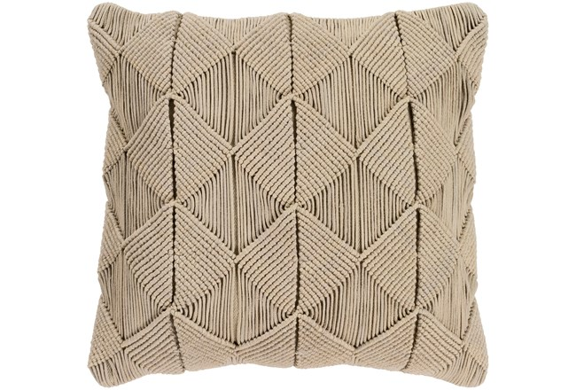 Accent Pillow-Macrame Diamonds Sage 18X18 - 360