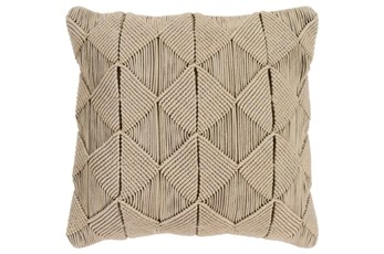 Accent Pillow-Macrame Diamonds Sage 20X20